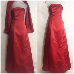 Dresses & Skirts - Red Prom Occasion Party WEDDING DRESS NEW 11-12